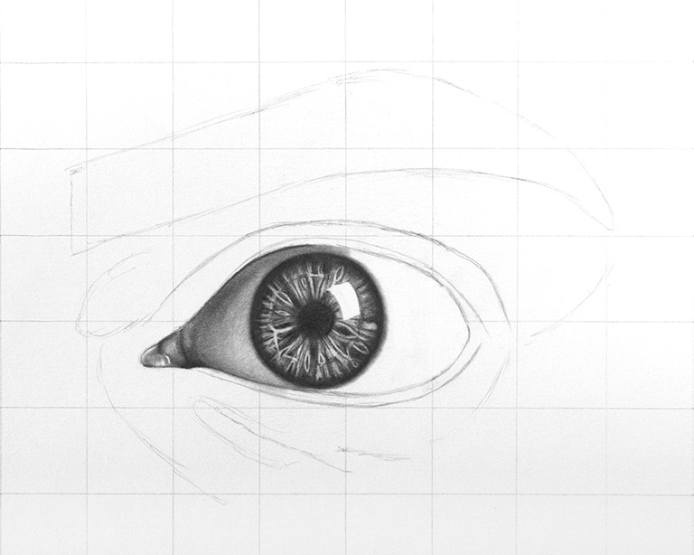 How To Draw Eyes Step By Step Realistic Eye Drawing Tutorial Luiza Creates