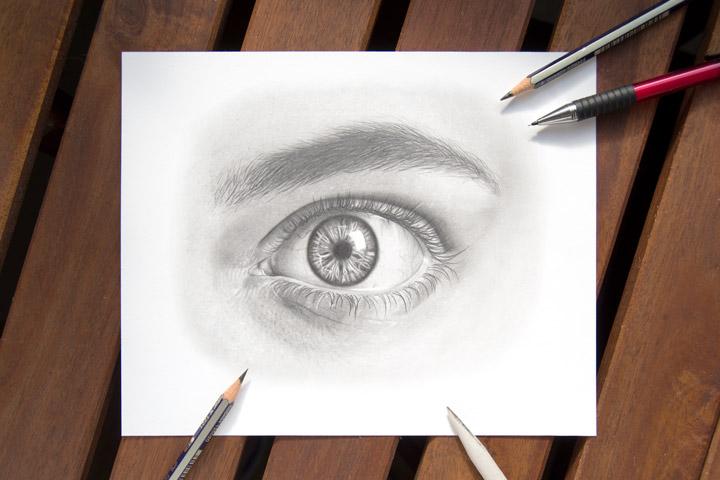 Mark the eye