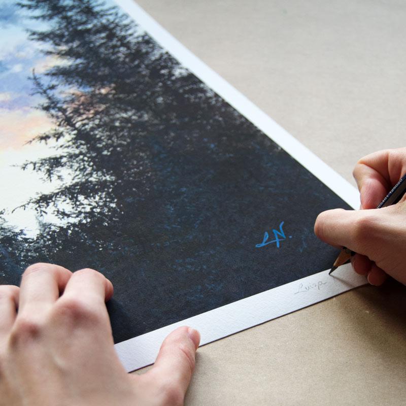 art print signing