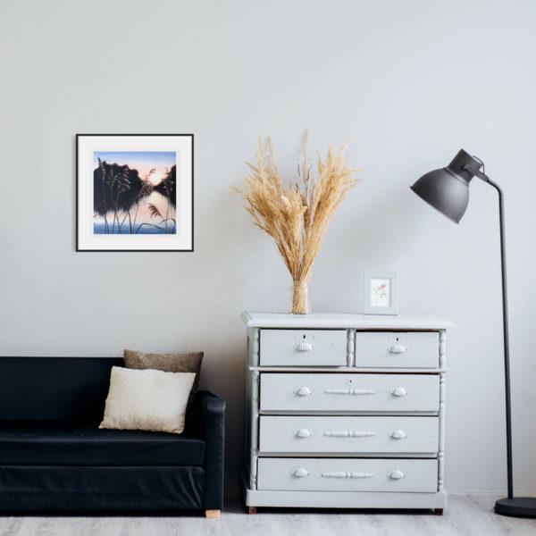 art print on the wall