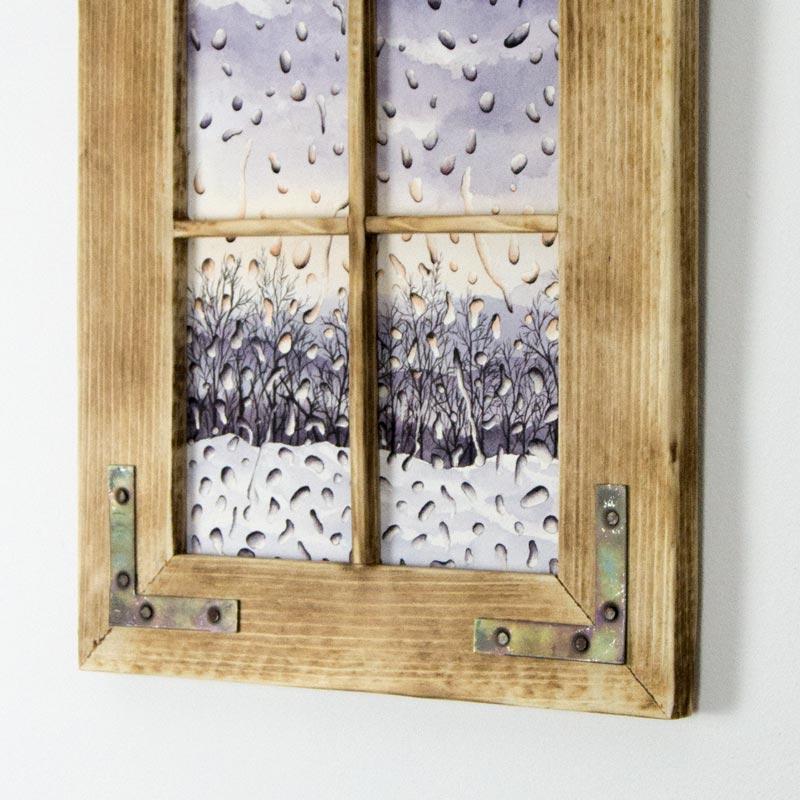 window rain painting