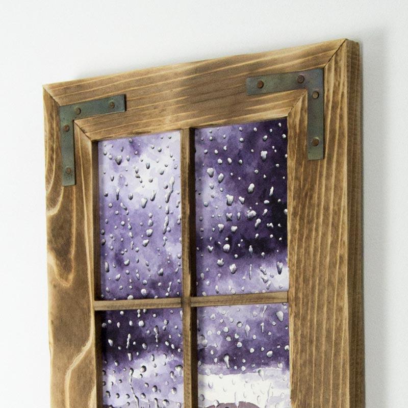 purple rain painting framed