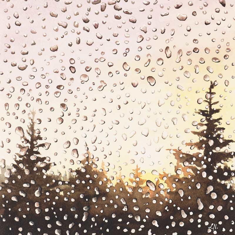 window rain painting