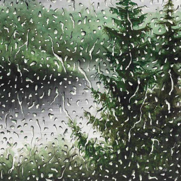 green rain painting