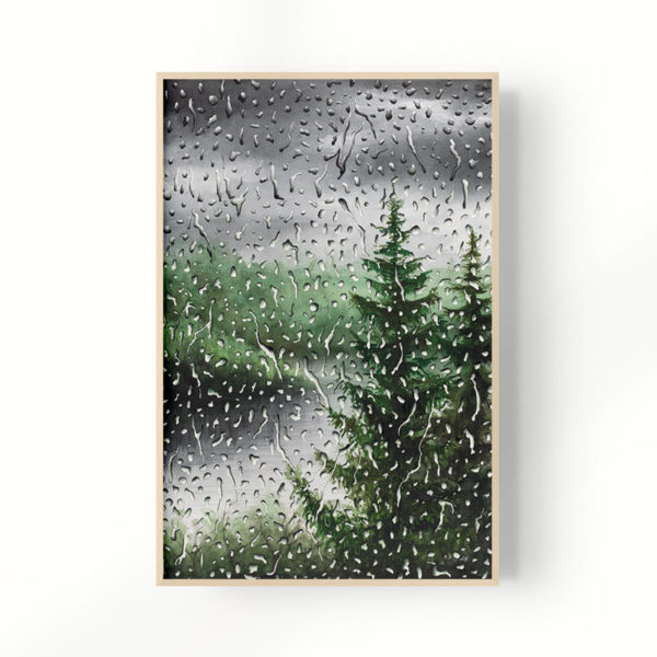 framed rain painting