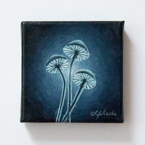 painting of moonlit fungi